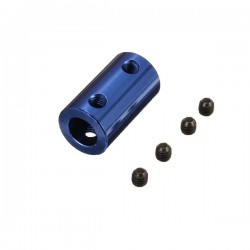 Blue Aluminium Coupling 5mm x 8mm