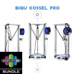 BIQU Kossel Pro Silver Delta Simplify3D Bundle fully DIY Kit 3D Printer (Linear Guide with BL Touch)
