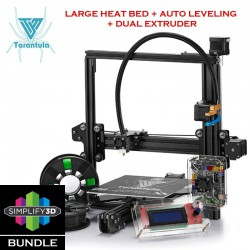 TEVO Tarantula i3 Simplify3D Bundle DIY Kit 3D Printer - Large Heat Bed, Auto- Leveling and Dual Extruder