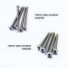 Stainless Steel Print Bed Screw - 5 pcs