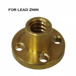 Brass Nut for Trapezoidal Screw 2mm Lead 2mm Pitch