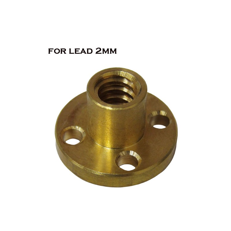 3d Gadgets Brass Nut For Trapezoidal Screw 2mm Lead 2mm