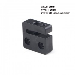 Anti-Backlash Nut Block 2mm Lead 2mm Pitch for T8 Screw