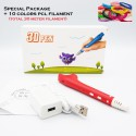 Kids Friendly Low Temperature PCL 3D Printing Pen - Standard Package