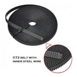 GT2 Belt 6mm with Steel Wire Core – 1 meter