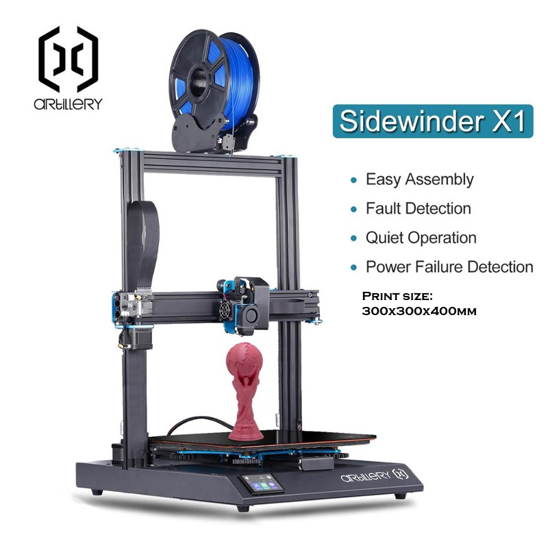 Artillery Sidewinder X1 Semi DIY 3D Printer Kit (July 2020 Version)