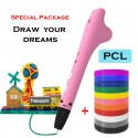 Kids Friendly Low Temperature PCL 3D Pen Printing - Special Package