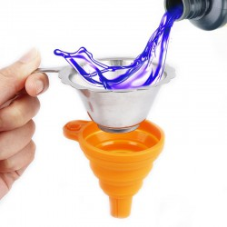 Silicone Foldable Funnel with Strainer for SLA/DLP 3D Printer