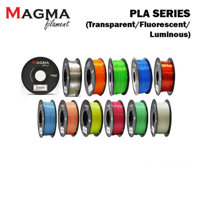 Magma PLA Filament 1.75mm - Transparent/ Fluorescent/ Luminous