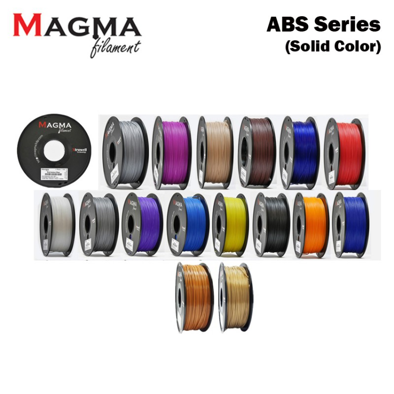 Magma ABS Filament 1.75mm - Solid Color