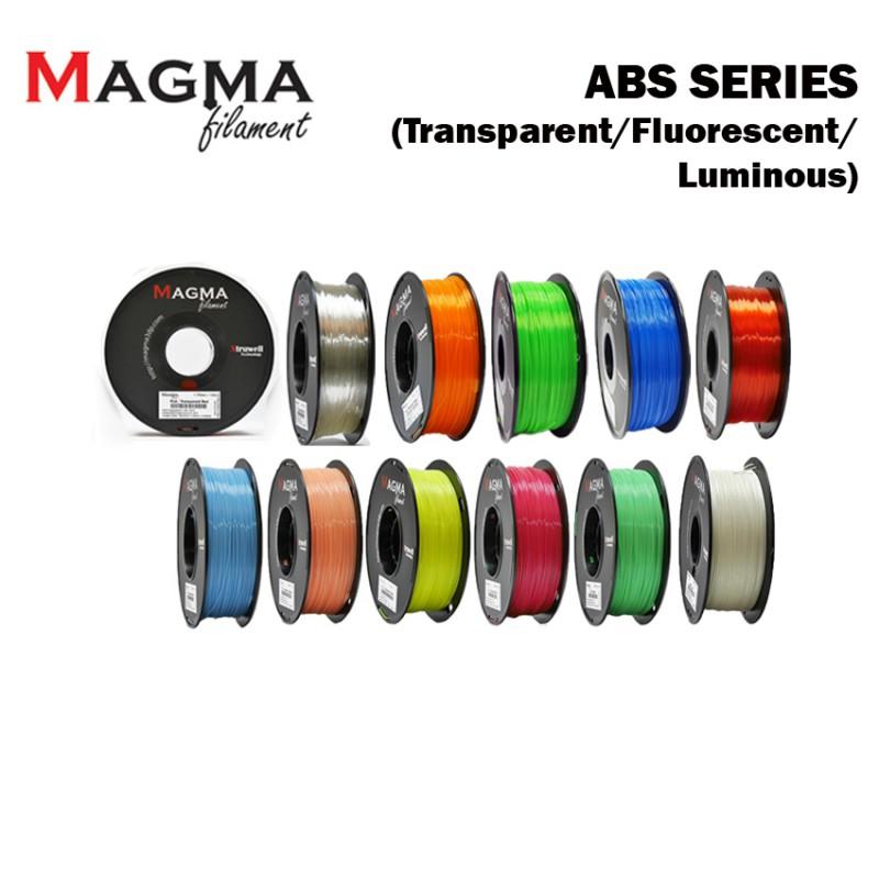 Magma ABS Filament 1.75mm - Transparent/ Fluorescent/ Luminous