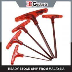 S2 Steel T-Handle Hex Wrench Allen Key 5pcs Set