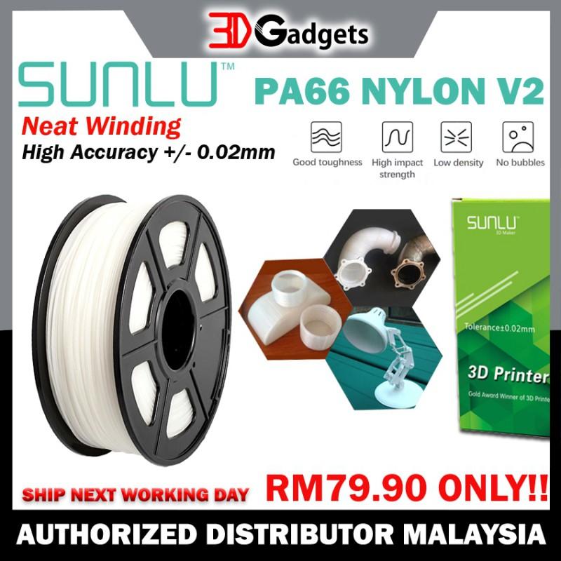 Sunlu PA66/ Nylon V2 Filament 1.75mm 1KG