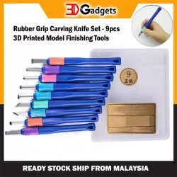 High Carbon Steel Rubber Grip Knife Set 9pcs 3D Printed Model Finishing Tool