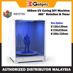 Weistek 405nm UV Curing DIY Machine with 360°C Rotation and Timer