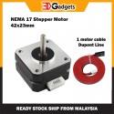 Nema 17 42x23mm Stepper Motor CE, RoHS Certified