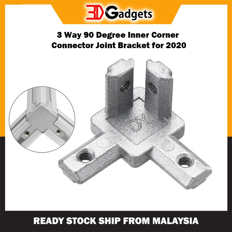 3 Way 90 Degree Inner Corner Connector Joint Bracket for 2020