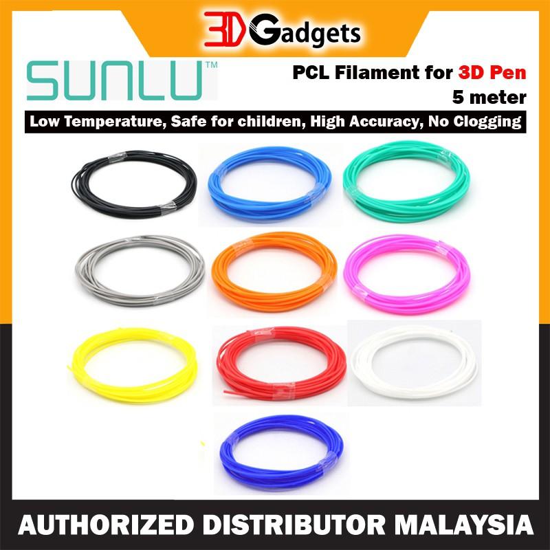 Sunlu PCL 1.75mm Filament for 3D Pen - 5 meter 3DPen