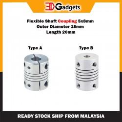 Flexible Shaft Coupling 5x8mm OD 15mm L 20mm