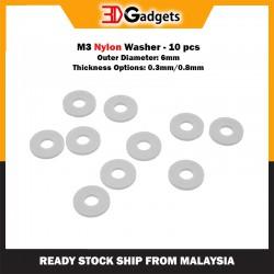 M3 Nylon Washer - 10 pcs