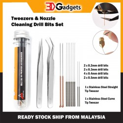 Tweezers & Nozzle Cleaning Drill Bits Set
