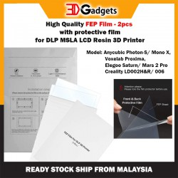 High Quality FEP Film with Protective Films Set - 2pcs for MSLA LCD DLP 3D Printer