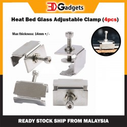 Heat Bed Glass Adjustable Clamp (4pcs)