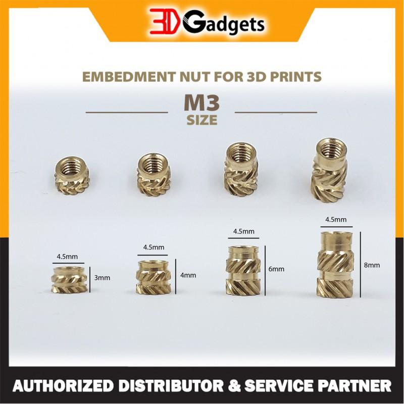 Embedment nut 3D Prints Copper Heat Set Inserts_Threaded Inserts M3/M4/M5