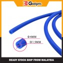 Blue PTFE Tube OD4mm ID1.9mm for 1.75mm Filament - 1meter