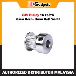 GT2 Pulley 16 Teeth 5mm Bore - 6mm Belt Width