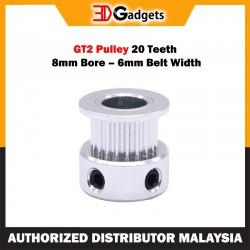 GT2 Pulley 20 Teeth 8mm Bore – 6mm Belt Width