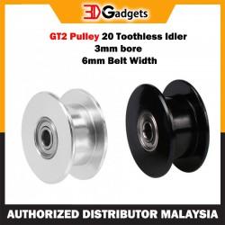 GT2 Pulley Toothless Idler 3mm Bore 6mm Belt Width