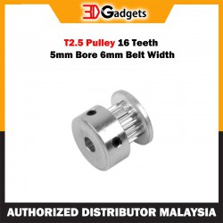 T2.5 Pulley 16 Teeth 5mm Bore 6mm Belt Width