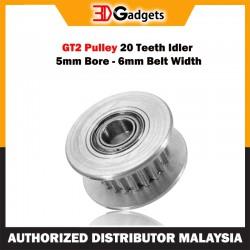 GT2 Pulley 20 Teeth Idler 5mm Bore 6mm Belt Width