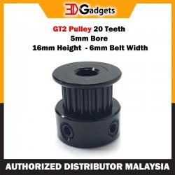 GT2 Pulley 20 Teeth 5mm Bore 16mm Height  - 6mm Belt Width
