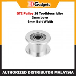 GT2 Pulley 16 Toothless Idler 3mm Bore 6mm Belt Width