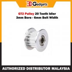 GT2 Pulley 20 Teeth Idler 3mm Bore 6mm Belt Width