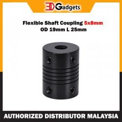 Flexible Shaft Coupling 5x8mm OD 19mm L 25mm