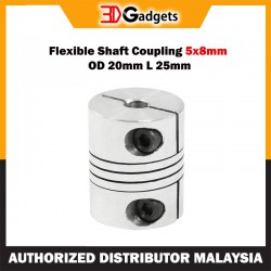 Flexible Shaft Coupling 5x8mm OD 20mm L 25mm