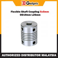 Flexible Shaft Coupling 5x5mm OD19mm L25mm