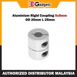 Aluminium Rigid Coupling 5x8mm OD 20mm L 25mm