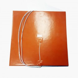 Silicone Heating Pad 220V 600W 300mm x 300mm with Thermistor