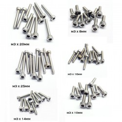 Stainless Steel M3 Hexagonal Socket Screw - 10 pcs