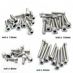 Stainless Steel M4 Hexagonal Socket Screw - 10 pcs