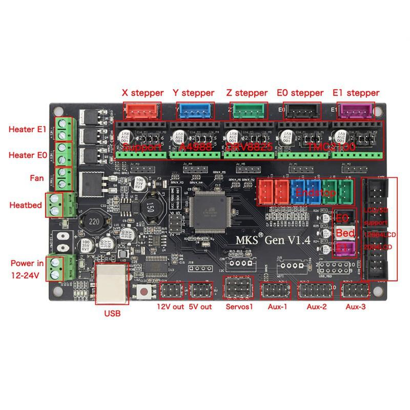 MKS-Gen V1.4 Printer Controller with Stepper driver