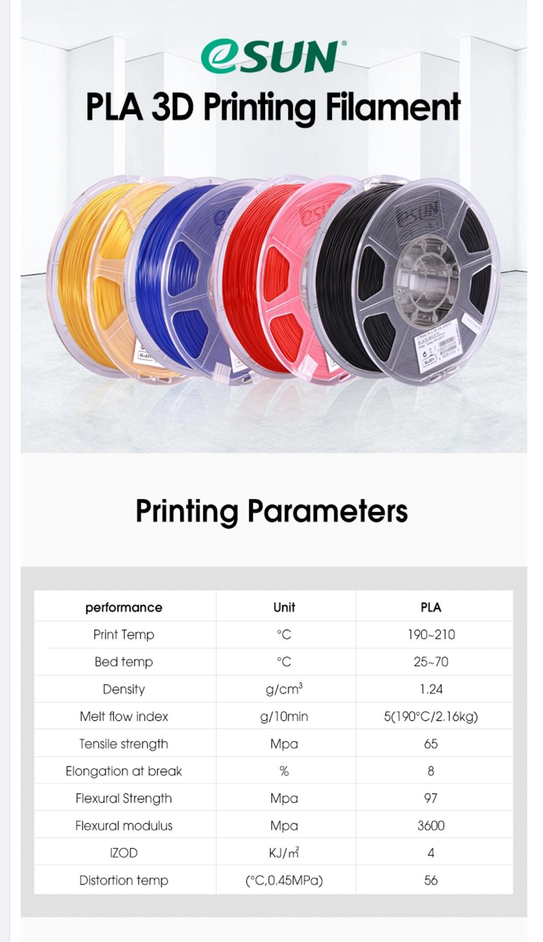 3D Gadgets Malaysia   eSUN 3D Filament PLA 2 85mm - Black