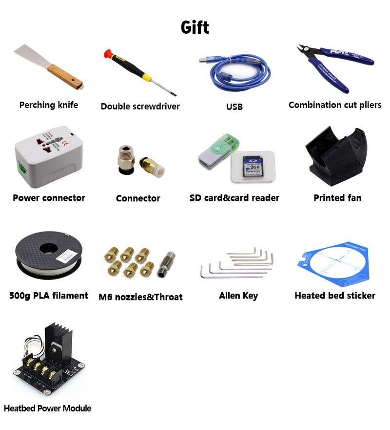 BIQU Kossel Pro Free Gifts