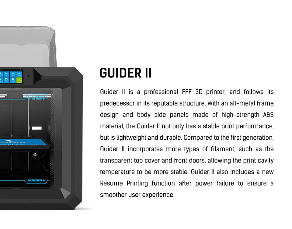 FlashForge Guider II 3D Printer