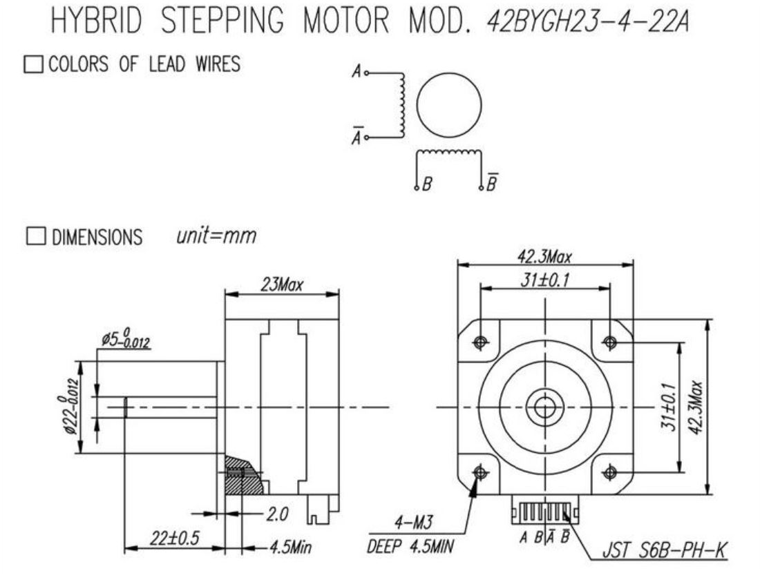 Nema 17 42x23 Stepper motor
